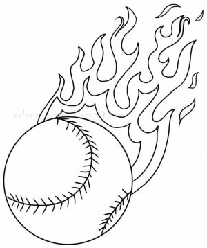 Baseball Coloring Pages Free   53718