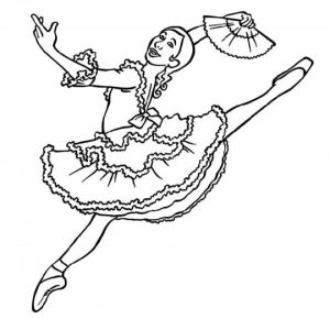 Beautiful Ballerina Coloring Pages   88623