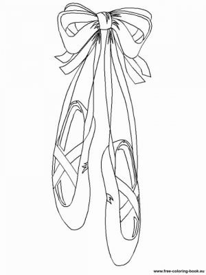 Beautiful Ballerina Shoes Coloring Pages   77654