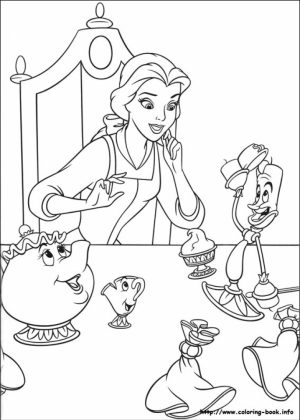 Belle Coloring Pages Printable   51749