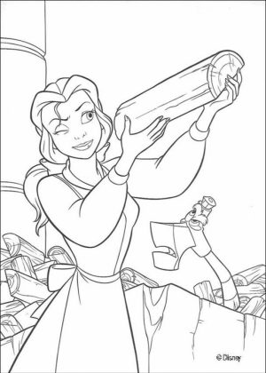 Belle Coloring Pages to Print for Girls   25472