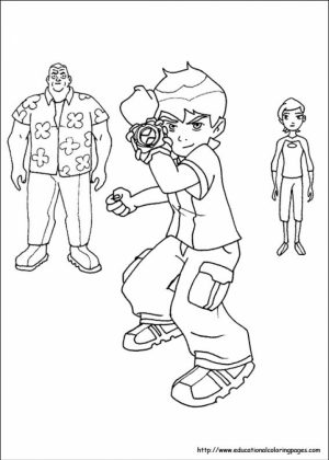 Ben 10 Coloring Pages Free Printable   jcaj11