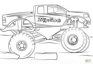 bigfoot monster truck coloring page – 73610