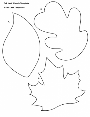 Blank Leaf Coloring Pages for Kids   85bf1