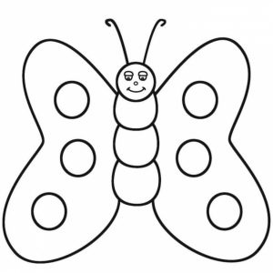 Butterfly Coloring Pages for Preschoolers   8rt3m