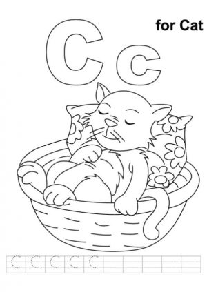 c is for cat coloring pages 67f61