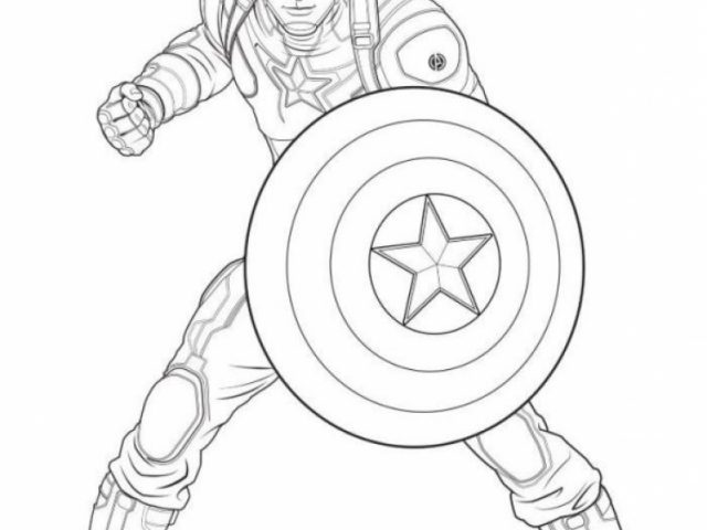 Get This Captain America Coloring Pages Avengers Printable 75691