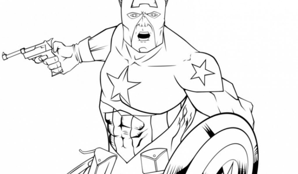 Get This Captain America Coloring Pages Marvel Avengers 76842