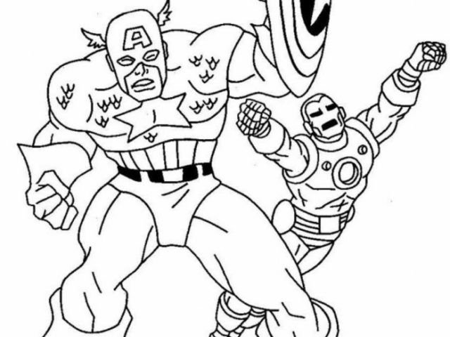 Get This Captain America Coloring Pages Marvel Avengers 95735