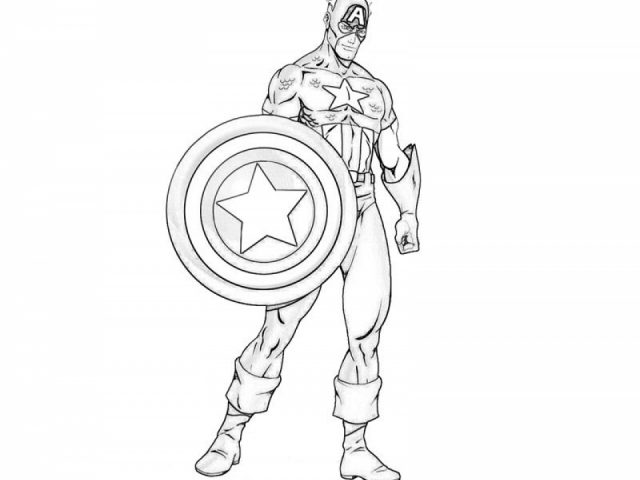 Get This Captain America Coloring Pages Printable 19042