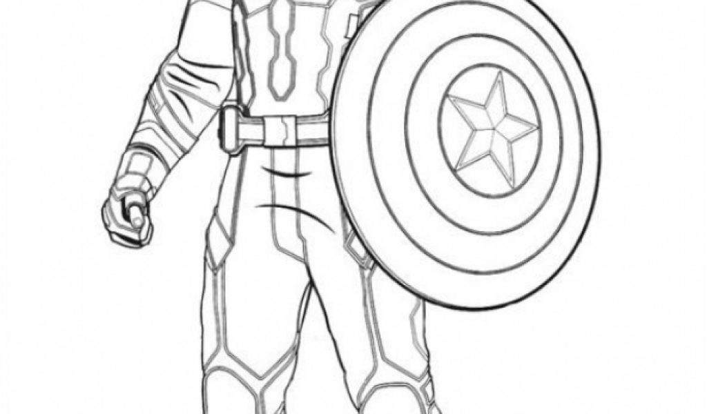 Get This Captain America Coloring Pages Printable 21749