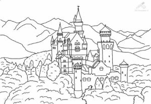 Castle Coloring Pages Free Printable   t2nf7
