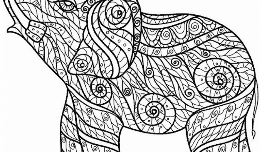 get this challenging coloring pages of elephant for adults 7g6df3 ! - Challenging Animal Coloring Pages
