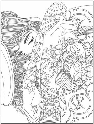 Challenging Trippy Coloring Pages for Adults   G8DT