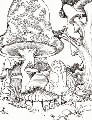 Challenging Trippy Coloring Pages for Adults   O4BH6