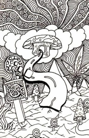 Challenging Trippy Coloring Pages for Adults   S7D5V