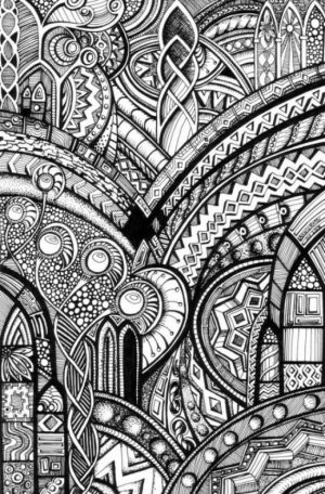 Challenging Trippy Coloring Pages for Adults   S8BT5