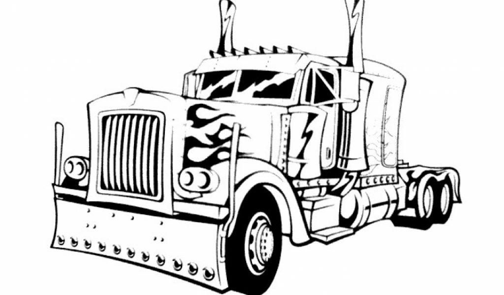 beautiful optimus prime truck coloring page images - printable ... - Optimus Prime Truck Coloring Page