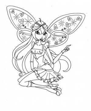Children's Printable Winx Club Coloring Pages   5te3k