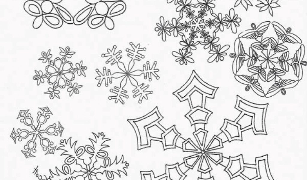christmas snowflake coloring pages 48195 - Christmas Snowflake Coloring Pages