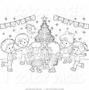 Christmas Tree Coloring Pages with Gifts for Children   65723