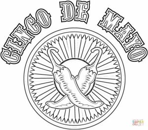 Cinco de Mayo Coloring Pages Childrens Printables   62716
