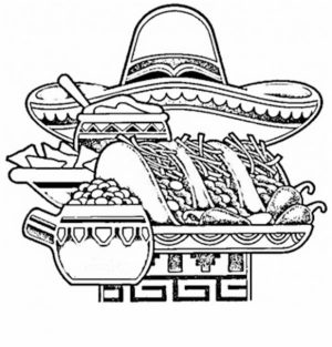 Cinco de Mayo Coloring Pages Childrens Printables   89213