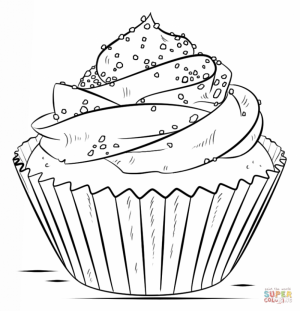 Cupcake Coloring Pages Printable   84004
