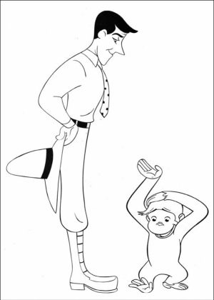 Curious George Coloring Pages for Preschoolers   20631
