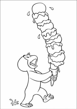 Curious George Coloring Pages Free   59163