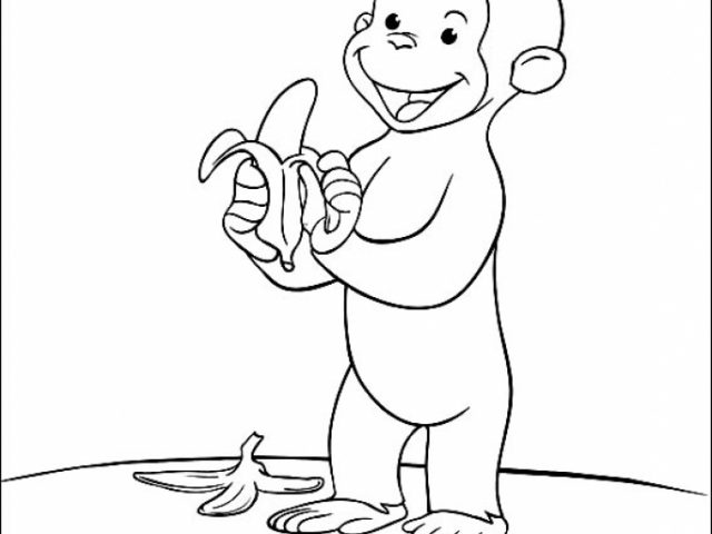 curious george halloween coloring pages - photo#34