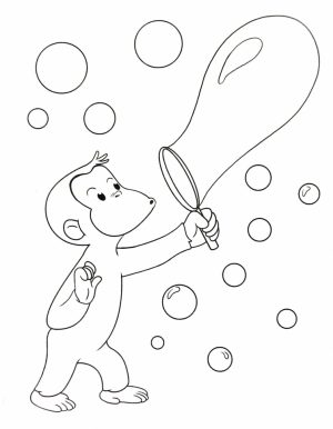 Curious George Coloring Pages to Print for Kids   07516