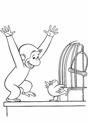 Curious George Coloring Pages to Print for Kids   41956