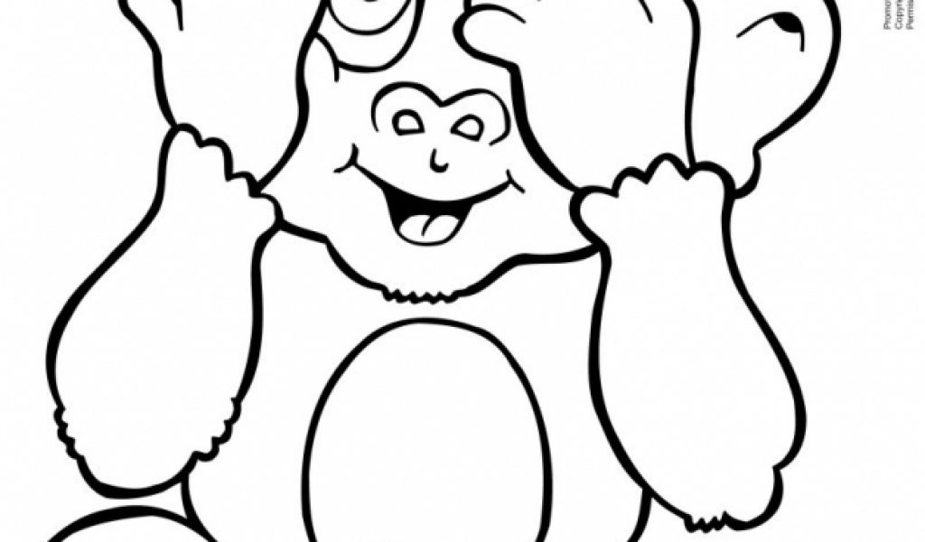 Get This Cute Baby Monkey Coloring Pages Free to Print 40317