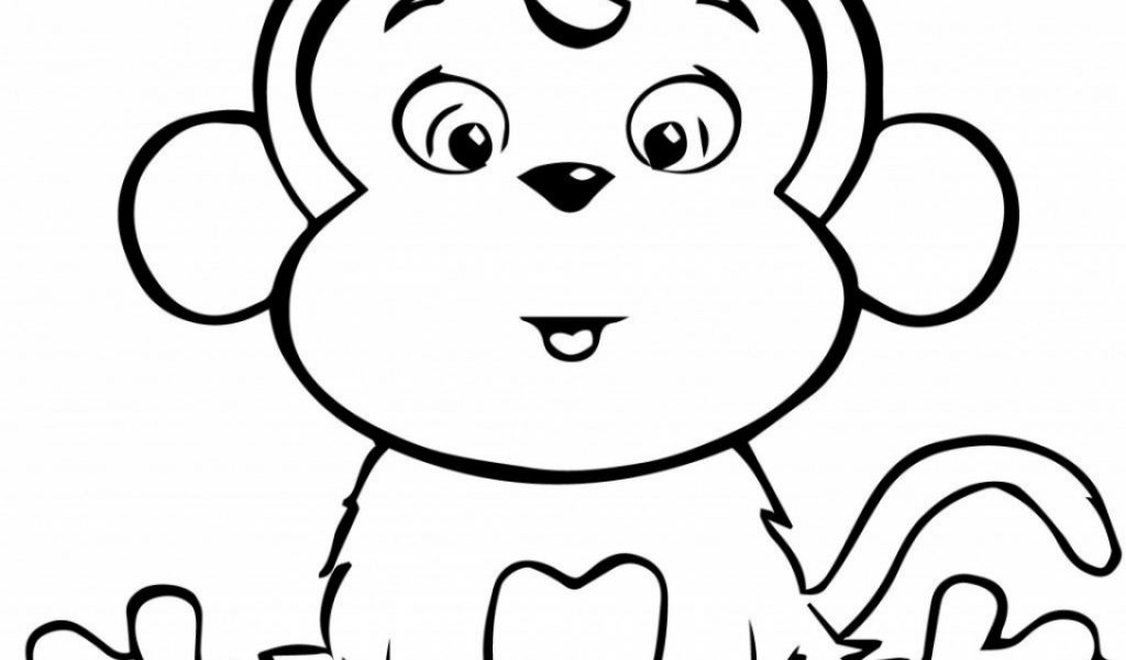 Get This Cute Baby Monkey Coloring