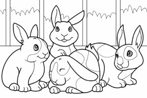 Cute Bunny Coloring Pages Free to Print   57671