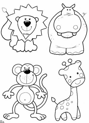 Cute Cartoon Animal Coloring Pages   md674
