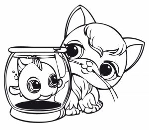Cute Coloring Pages of Littlest Pet Shop   84610