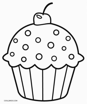 Cute Cupcake Coloring Pages   56219