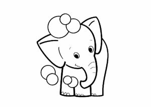 Cute Elephant Coloring Pages for Preschoolers   367907