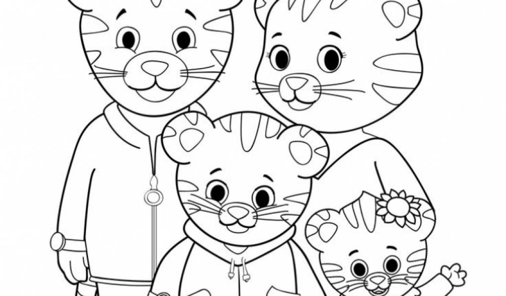 Daniel tiger coloring pages marvellous daniel tiger for Daniel tiger coloring pages