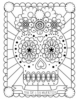 Day of the Dead Coloring Pages for Adults   ucbr1