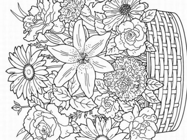 Detailed Flower And Coloring Pages