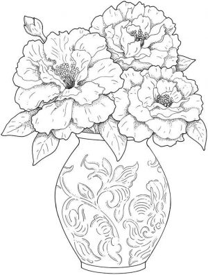 detailed flower coloring pages for adults printable – 85yf1
