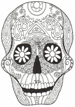Dia De Los Muertos Coloring Pages Free Printable   jcaj12