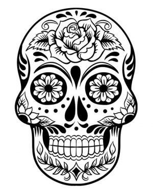 Dia De Los Muertos Coloring Pages Free Printable   q8ix6