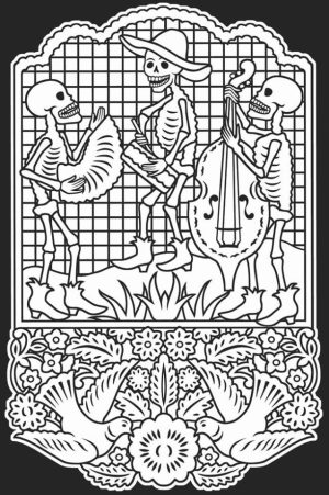 Dia De Los Muertos Coloring Pages Free Printable   u043e