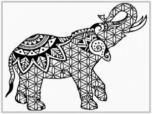 Difficult Elephant Coloring Pages for Grown Ups   7g542c