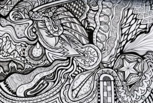 Difficult Trippy Coloring Pages for Grown Ups   X7D5N