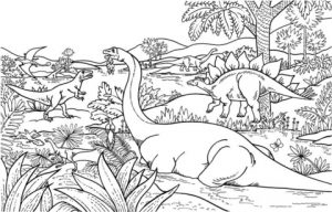 Dinosaurs Coloring Pages Free Printable   u043e